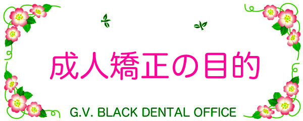 成人,歯列矯正,目的,やり直し,東京,失敗,リスク,デメリット,名医,期間方法,GVBDO, G.V. BLACK DENTAL OFFICE,