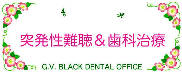 突発性難聴,耳鳴り,顎関節症,ストレス,名医,治療方法,原因,GVBDO,G.V. BLACK DENTAL OFFICE,GVBDO
